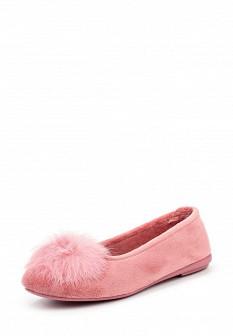 Женские розовые испанские осенние меховые тапочки