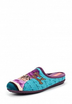 Женские бирюзовые испанские осенние текстильные тапочки