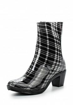 Женские белые черные осенние сапоги на каблуке
