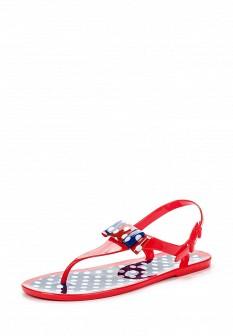 Женские красные сандалии