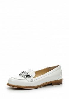Женские белые итальянские лаковые туфли лоферы