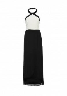 Белое черное платье NAF NAF