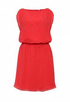Красное осеннее платье