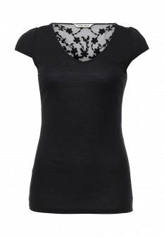 Женская черная футболка NAF NAF