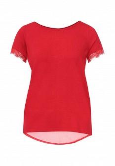 Женская красная осенняя футболка