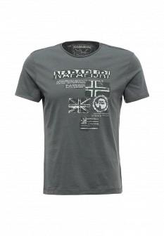Мужская серая футболка NAPAPIJRI
