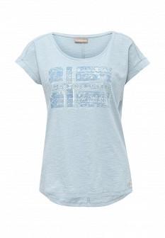 Женская голубая футболка