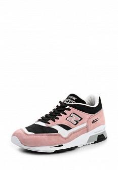 Мужские розовые кожаные кроссовки