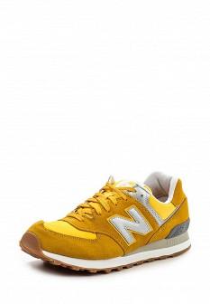 Мужские желтые осенние кроссовки
