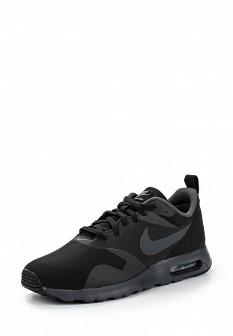 Мужские черные осенние кожаные кроссовки air max