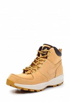 Мужские бежевые осенние кожаные ботинки