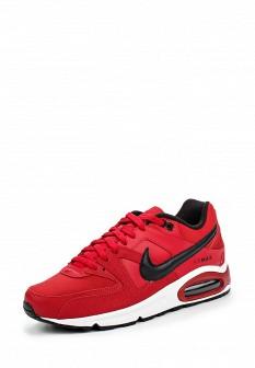 Мужские красные осенние кожаные кроссовки air max