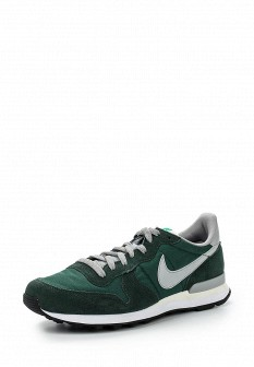 Мужские зеленые кожаные кроссовки