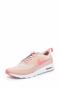 Женские розовые кожаные кроссовки air max