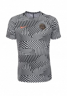 Мужская белая черная осенняя спортивная футболка