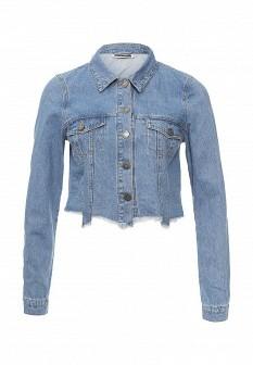 Женская голубая джинсовая куртка