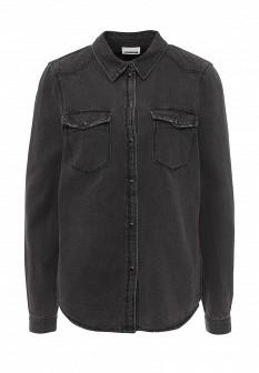 Женская серая джинсовая рубашка