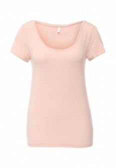 Женская розовая футболка ONLY