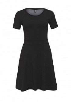 Черное осеннее платье ONLY