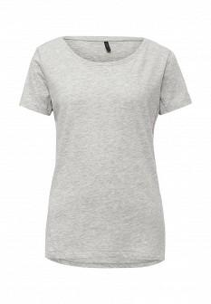 Женская серая осенняя футболка