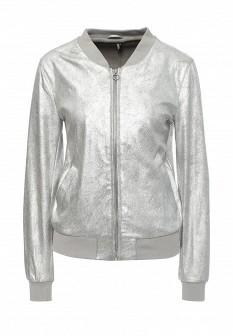 Женская осенняя серебряная куртка