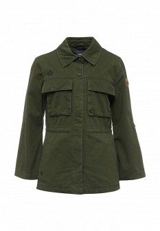Женская зеленая осенняя куртка