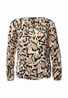 Бежевая блузка Oodji