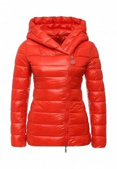 Женская красная утепленная осенняя куртка