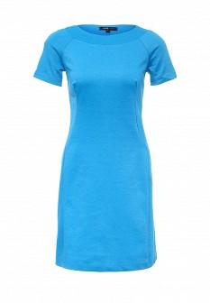 Голубое осеннее платье Oodji