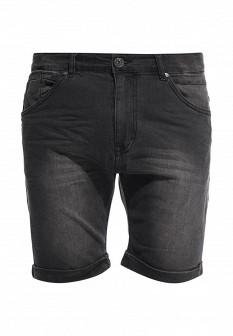 Мужские черные джинсовые шорты