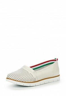 Женские белые кожаные туфли Palazzo D