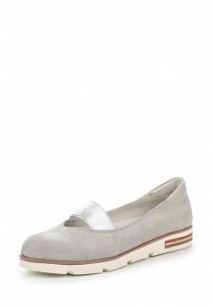 Женские серые кожаные туфли