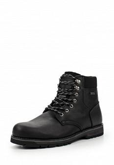 Мужские черные осенние кожаные ботинки