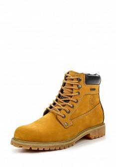 Мужские оранжевые осенние ботинки из нубука