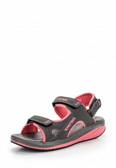 Женские серые сандалии из нубука