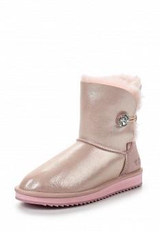 Женские розовые осенние кожаные сапоги