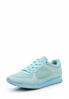 Женские голубые осенние кожаные кроссовки