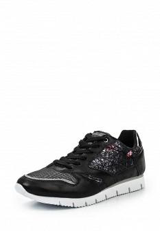 Женские черные осенние кожаные кроссовки