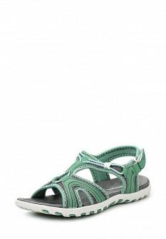 Женские зеленые сандалии из нубука