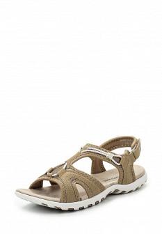 Женские бежевые сандалии из нубука