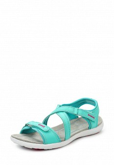Женские бирюзовые сандалии из нубука
