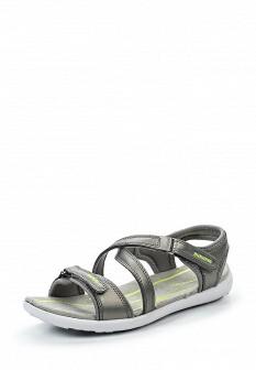 Женские серые кожаные сандалии