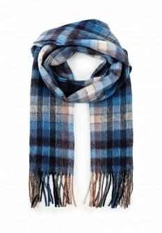 Женский синий осенний летний шарф