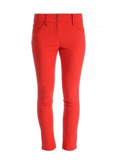 Женские красные итальянские осенние брюки