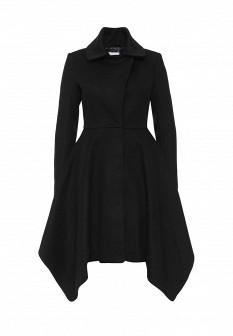 Женское черное итальянское осеннее пальто