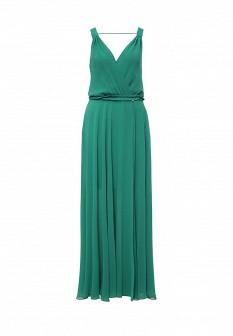 Зеленое итальянское платье