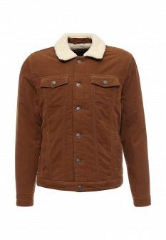 Мужская коричневая утепленная осенняя куртка
