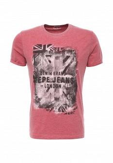 Мужская розовая футболка Pepe Jeans