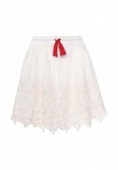 Белая юбка Pepe Jeans