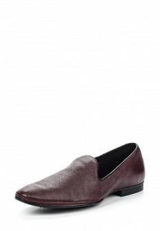 Мужские бордовые кожаные туфли лоферы